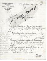 18 - Cher - LES ARTAUX - Facture JALLOT - Charronnage, Charpente - 1919 - REF 158A - Francia
