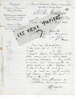 18 - Cher - BOURGES - Facture MEUNIER - Scierie, Bois D'industrie - 1912 - REF 158A - Francia