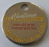 Jeton De Caddie - Challenge IMMOBILIER - AIX LES BAINS 73 - ALBENS 73 - En Métal - Neuf - - Jetons De Caddies