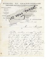 18 - Cher - SENNECAY - Facture PARIS - Forge, Charronnage, Instruments Agricoles, Etc - 1911 - REF 158A - Francia