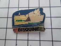 316c Pin's Pins / Beau Et Rare / THEME : BATEAUX  / VOILIER PECHE BISQUINE FECAMP ? - Barcos