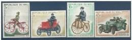 "Mali YT 111 à 114 "" Bicyclette Et Automobiles "" 1968 Neuf** - Mali (1959-...)"