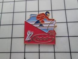 316c Pin's Pins / Beau Et Rare / THEME : JEUX OLYMPIQUES / ALBERTVILLE 1992 SKI DESCENTE Par FB - Juegos Olímpicos