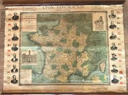 Carte De France Circa 1899 - LYON REPUBLICAIN - Henri Barrere - Landkarten