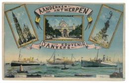 Souvenir D'Anvers. SS Melila - SS Albertville - SS Belgenlande (9389) - Antwerpen