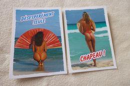 LOT DE 2 CARTES ..BELLES FEMMES SEXY - Cartes Postales