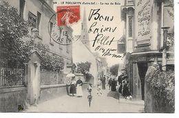 44 - LE POULIGUEN - La Rue Du Bois  (Très Animée) - Le Pouliguen