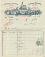 TOULOUSE BERNES.MORERE ET CIE - MERCERIE BONNETERIE 1930 RELEVE DE COMPTE - Francia