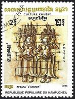 Kampuchea 1983 -  Mi 474 - YT 381 ( Apsara, Stone Relief In Angkor ) - Kampuchea