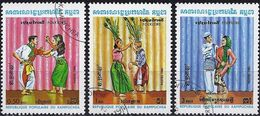 Kampuchea 1983 - Mi 476/78 - YT 383/85 ( Khmer Folk Dances )  Complete Set - Kampuchea