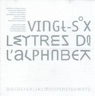 Oulipo : 26 Lettres De L'Alphabet Par Clotilde Olyff Dans Une Lettre Transparente Envoyée Par Eric Angelini (2005) - Altre Collezioni