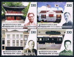2018 KOREA Overseas Independent Movement Sites STAMP 4V - Corea Del Sud