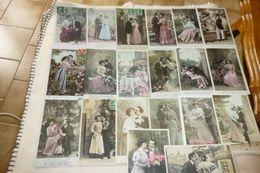 LOT DE 20 CPA ...COUPLES ROMANTIQUES ...TENDRES ET ENLACES - Cartes Postales