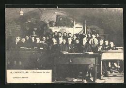 CPA Badonviller, L`École Sous Les Obus - Ohne Zuordnung