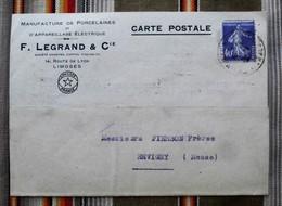 87 LIMOGES Cpa  Manufacture De Porcelaines Et D'Appareillage Electrique  LEGRAND 55 REVIGNY - Francia