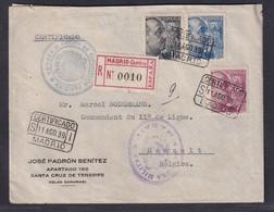 Spanien,  Zensur-R-Brief Nach Belgica - Stamps