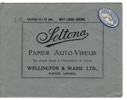 Enveloppe Papier Auto-vireur SELTONA- WELLINGTON & WARD,LTD.  .a.picard, Le Havre - Francia
