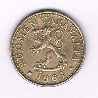 20 PENNIA 1963 FINLAND /5366/ - Finlandia