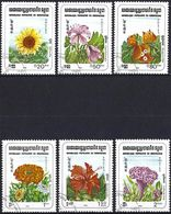 Kampuchea 1983 - Mi 510/15 - YT 419/24 ( Various Flowers ) - Kampuchea
