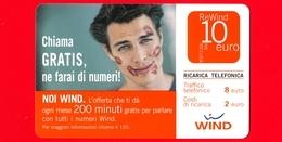 ITALIA - Scheda - Ricarica Telefonica WIND - Usata - Chiama Gratis, Ne Farai Di Numeri! - 10  - Vedi Scansioni - Italie