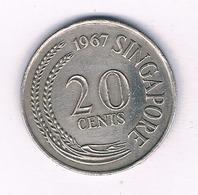 20 CENTS 1967 SINGAPORE /5370/ - Singapour