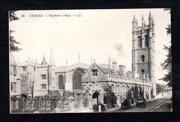 Angleterre - 35 - OXFORD - Magdalen College  - L. L. - Calèches - Oxford