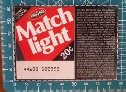 KingSford Match Light Coupon Buono Sconto 20 C USA Pubblicità - 1983 - Publicidad