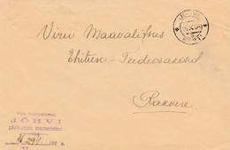 Estland: 1935: Brief Von Jöhvi - Estonie
