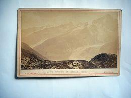 PHOTO GRAND CDV PLANPRAS ET AIGUILLE VERTE  Phot F CHARNAUX GENEVE SUISSE - Anciennes (Av. 1900)