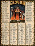 Petit Calendrier Publicitaire CLACQUESIN 1923 Illustré * Calendar * Alcool - Kalenders