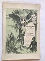 Gravure Commemorative Medaille Guerre 1870-1871 - CHATRON Louis Auguste - MARTIGNAT (Ain) - France