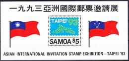 Samoa 1993 Asia International Invitation Stamp Exhibition Mi MS 51 MNH ** - Samoa