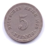 DEUTSCHES REICH 1908 A: 5 Pfennig, KM 11 - [ 2] 1871-1918 : Imperio Alemán