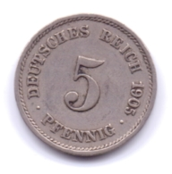 DEUTSCHES REICH 1905 G: 5 Pfennig, KM 11 - [ 2] 1871-1918 : Imperio Alemán
