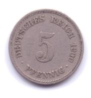 DEUTSCHES REICH 1900 A: 5 Pfennig, KM 11 - [ 2] 1871-1918 : Imperio Alemán