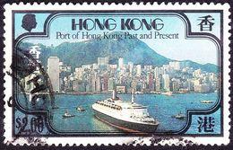 HONG KONG 1982 QEII $2 Multicoloured Hong Kong Port, Past And Present SG410 Used - Hong Kong (...-1997)