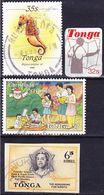 Tonga 1968-1991 Lot Of Stamps Mi 262, 895, 1065, 1194 Used O - Tonga (1970-...)