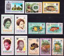 Tuvalu 1978-1995 Lot Of Stamps Mi 69, 112-115 MNH **, Mi 223, 713, D3, D11, D14, D16, D18 Real Used O ! - Tuvalu
