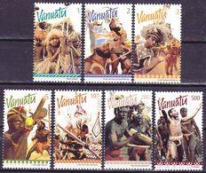 Vanuatu 1999 Definitives Traditional Dances Complete Set Mi 1085-1091 MNH ** - Vanuatu (1980-...)