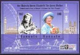 Vanuatu 2000 100th Anniversary Of Queen Mother Mi MS 38 MNH ** - Vanuatu (1980-...)