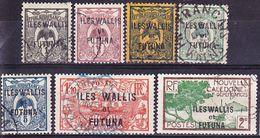 Wallis Et Futuna 1920-1928 Lot Yv. 1-4, 18, 42, 44 Oblitéré O - Usados