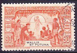 Wallis Et Futuna 1931 Exposition Coloniale De Paris Yv 68 Oblitéré O - Wallis And Futuna