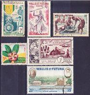 Wallis Et Futuna 1952-1960 Lot Mi 179, 180, 184, 187, 188, 190 Oblitéré O - Used Stamps