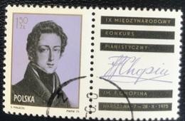 Polska - Poland - Polen - P1/4 - (°)used - 1975 - Chopin Pianowedstrijd - Michel Nr. 2408 ZF - 1944-.... Republik