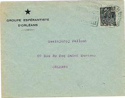 ENVELOPPE  A EN-TETE GROUPE ESPERENTISTE ORLEANS - Esperanto