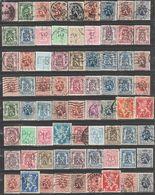 Belgique. Lion Héraldique, 99 Perfins Différents - Unclassified