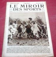Miroir Des Sports N°255 Avril 1925 Circuit Cycliste Bourbonnais,Verschueren Tour De Belgique,Rugby Perpignan Carcassonne - Sport