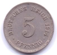 DEUTSCHES REICH 1914 E: 5 Pfennig, KM 11 - [ 2] 1871-1918 : Imperio Alemán