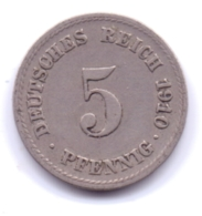 DEUTSCHES REICH 1910 F: 5 Pfennig, KM 11 - [ 2] 1871-1918 : Imperio Alemán