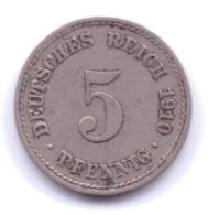 DEUTSCHES REICH 1910 A: 5 Pfennig, KM 11 - [ 2] 1871-1918 : Imperio Alemán